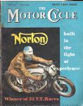 MOTOR CYCLE - MOTORCYCLE MAGAZINE - TOURIST TROPHY NUMBER - 7TH JUNE 1956 - M2320